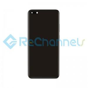 For Huawei P40 Pro Battery Door Replacement - Black - Grade S+
