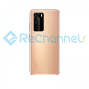 For Huawei P40 Pro Battery Door Replacement - Blush Gold - Grade S+