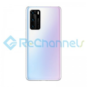 For Huawei P40 Pro Battery Door Replacement - Ice White - Grade S+