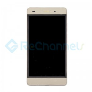 For Huawei P8 Lite LCD Screen and Digitizer Assembly with Front Housing Replacement - Gold - Grade S+