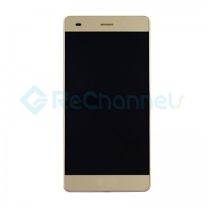 For Huawei P8lite LCD Screen and Digitizer Assembly with Front Housing Replacement - Gold - Grade S