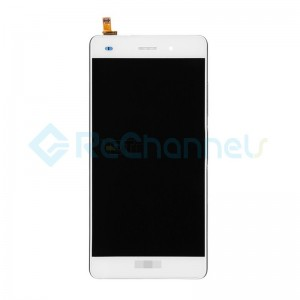 For Huawei P8lite LCD Screen and Digitizer Assembly with Front Housing Replacement - White - Grade S