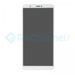 For Huawei P Smart LCD Screen and Digitizer Assembly with Front Housing Replacement - White - Grade S