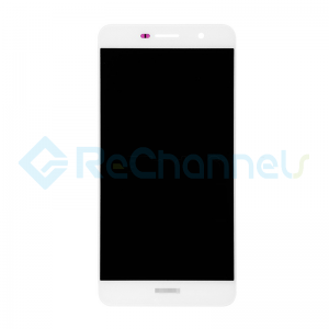 For Huawei Y6 Pro/Enjoy 5 LCD Screen and Digitizer Assembly Replacement - White - With Logo - Grade S+