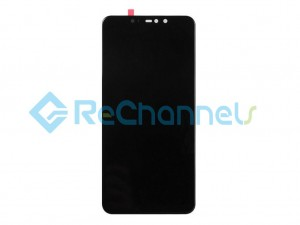 For Xiaomi Redmi 6 LCD Screen and Digitizer Assembly with Front Housiing Replacement - Black - Grade S