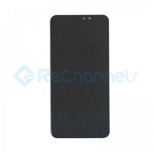 For Xiaomi Redmi Note 6 Pro LCD Screen and Digitizer Assembly with Front Housing Replacement - Black - Grade S