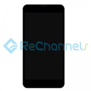 For Nokia Lumia 630 LCD Screen and Digitizer Assembly with Front Housing Replacement - Black  - Grade S+
