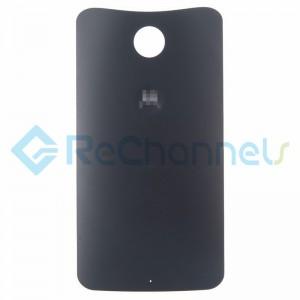 For Motorola Nexus 6 Battery Door Replacement - Black - Grade S+