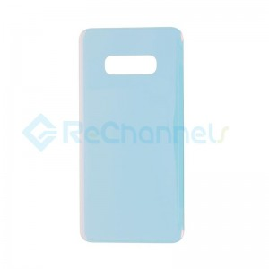For Samsung Galaxy S10E SM-G970 Battery Door with Adhesive Replacement - White - Grade R
