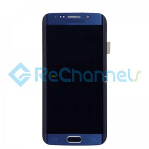 For Samsung Galaxy S6 Edge LCD Screen and Digitizer Assembly Replacement - Blue - Grade S