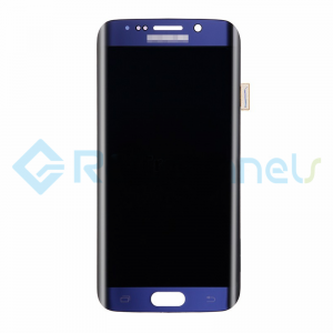 For Samsung Galaxy S6 Edge LCD Screen and Digitizer Assembly Replacement - Black Sapphire - Grade S+
