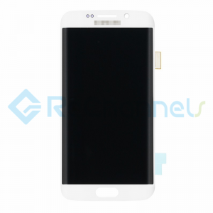For Samsung Galaxy S6 Edge LCD Screen and Digitizer Assembly Replacement - White - Grade S+