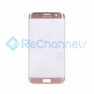 For Samsung Galaxy S7 Edge Glass Lens Replacement - Gold  - Grade S+