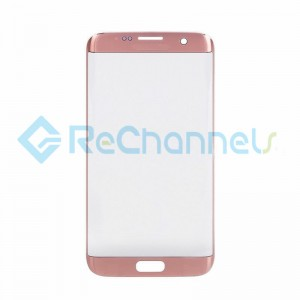 For Samsung Galaxy S7 Edge Glass Lens Replacement - Pink - Grade S+