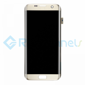For Samsung Galaxy S7 Edge LCD and Digitizer Assembly Replacement - Gold - Grade S+