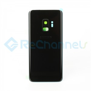 For Samsung Galaxy S9 SM-G960 Battery Door With Adhesive Replacement - Midnight Black - Grade S+