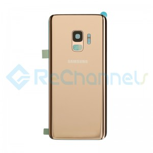 For Samsung Galaxy S9 SM-G960 Battery Door with Adhesive Replacement - Sunrise Gold - Grade S+