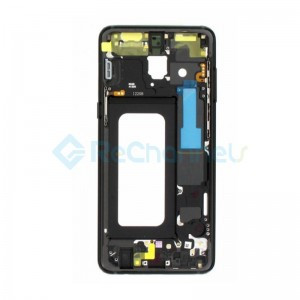 For Samsung Galaxy A8 (2018) SM-A530 Middle Frame Replacement - Black - Grade S+
