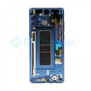 For Samsung Galaxy Note 8 LCD Screen and Digitizer Assembly with Front Housing Replacement - Blue - Grade S