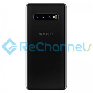 For Samsung Galaxy S10E SM-G970 Battery Door with Adhesive Replacement - Black - Grade S+