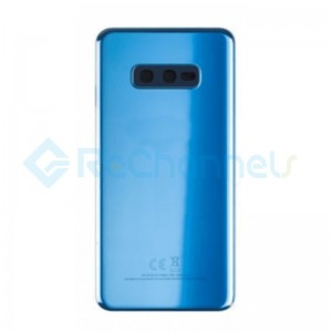 For Samsung Galaxy S10E SM-G970 Battery Door with Adhesive Replacement - Blue - Grade R