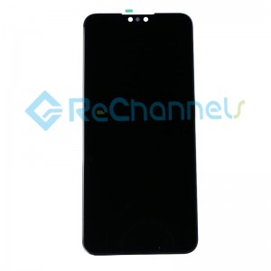For Huawei Y9 2019 LCD Screen and Digitizer Assembly with Front Housing Replacement - Blue - Grade S+
