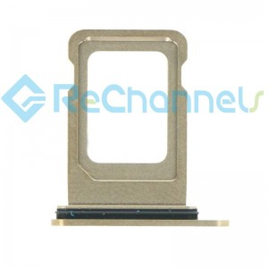 For iPhone 12 Pro/12 Pro Max Sim Card Tray Replacement- Single Version-Gold-Grade S+