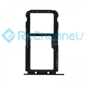 For Huawei Mate 20 Lite SIM Card Tray Replacement - Black - Grade S+