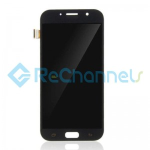 For Samsung Galaxy A7 (2017) SM-A720 LCD Screen and Digitizer Assembly Replacement - Black - Grade S+