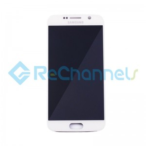 For Samsung Galaxy S6 LCD Screen and Digitizer Assembly Replacement - White - Grade S