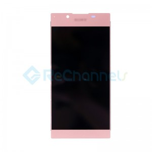 For Sony Xperia L1 LCD Screen and Digitizer Assembly Replacement - Pink - With Logo - Grade S+