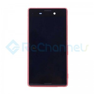 For Sony Xperia M4 Aqua LCD Screen and Digitizer Assembly with Front Housing Replacement - Red -  Grade S
