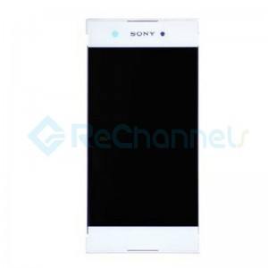 For Sony Xperia XA1 LCD Screen and Digitizer Assembly with Front Housing Replacement - White - Grade S+