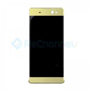For Sony Xperia XA Ultra LCD Screen and Digitizer Assembly with Front Housing Replacement - Gold - Grade S+