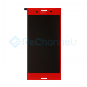 For Sony Xperia XZ Premium LCD Screen and Digitizer Assembly Replacement - Red - With Logo - Grade S+