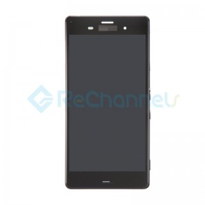 For Sony Xperia Z3 LCD Screen and Digitizer Assembly with Front Housing Replacement - Black - Grade S+