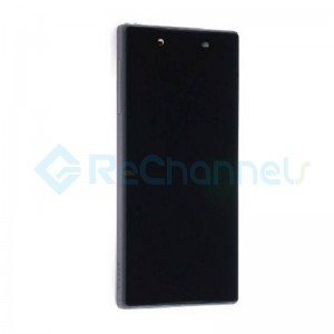 For Sony Xperia Z5 LCD Screen and Digitizer Assembly with Front Housing Replacement - Black - With Logo - Grade S+