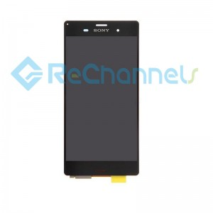 For Sony Xperia Z3 LCD Screen and Digitizer Assembly Replacement - Black - Grade S