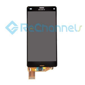 For Sony Xperia Z3 Compact LCD Screen and Digitizer Assembly Replacement - Black - Grade S+