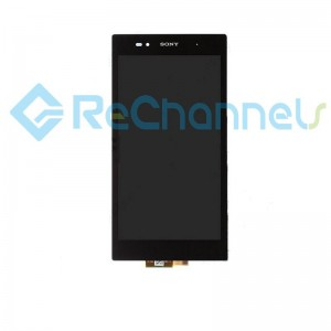 For Sony Xperia Z Ultra LCD Screen and Digitizer Assembly Replacement - Black - Grade S+