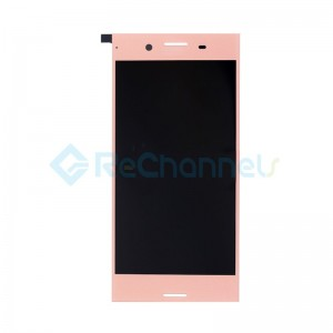 For Sony Xperia XZ Premium LCD Screen and Digitizer Assembly Replacement - Pink - With Logo - Grade S+