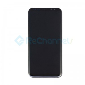 For Samsung Galaxy S8 Plus G955F LCD Screen and Digitizer Assembly with Front Housing Replacement - Orchid Gray - Grade S+