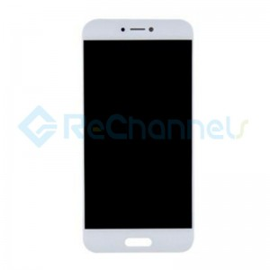 For Xiaomi Mi 5C LCD Screen and Digitizer Assembly with Front Housing Replacement - White - Grade S