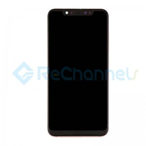 For Xiaomi Mi 8 LCD Screen and Digitizer Assembly with Front Housing Replacement - Gold - Grade S+