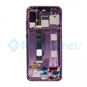 For Xiaomi Mi 9 LCD Screen and Digitizer Assembly with Front Housing Replacement - Violet - Grade S+