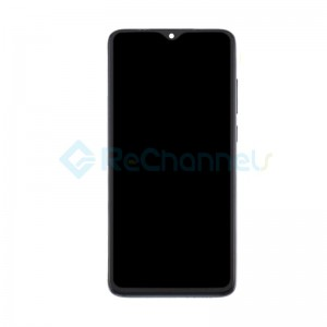 For Xiaomi Redmi Note 8 Pro LCD Screen and Digitizer Assembly with Front Housing Replacement - Black - Grade S