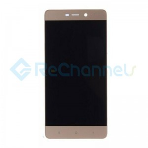 For Xiaomi Redmi 4 LCD Screen and Digitizer Assembly with Front Housing Replacement - Gold - Grade S