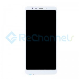 For Xiaomi Redmi 5 LCD Screen and Digitizer Assembly with Front Housing Replacement - White - Grade S