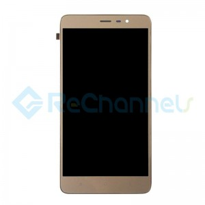 For Xiaomi Redmi Note 3 LCD Screen and Digitizer Assembly with Front Housing Replacement - Gold - Grade S