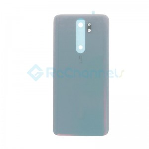 For Xiaomi Redmi Note 8 Pro Battery Door Replacement - White - Grade S+